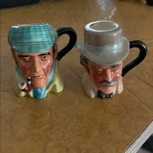 Toby Jug miniature Sherlock Holmes and Dr. Watson